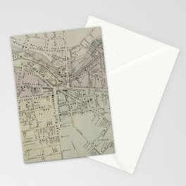 Vintage Map of Watertown MA (1864) Stationery Cards