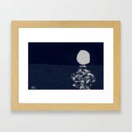 Moon on Water Framed Art Print