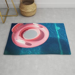 Rose blue swimming pool Rug