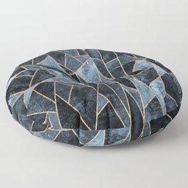 Shattered Soft Dark Blue Floor Pillow