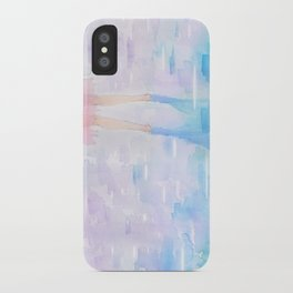 Pink and Blue Season iPhone Case