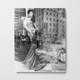 Fashion Photography Window // Fine Art // Glamorous Woman // With Hand-made Doll Metal Print