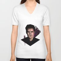 wesley bird V-neck T-shirts featuring Paul Wesley by DijaDalmaArt