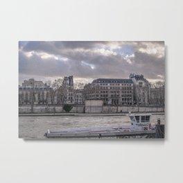Seine wharf,  Paris Metal Print