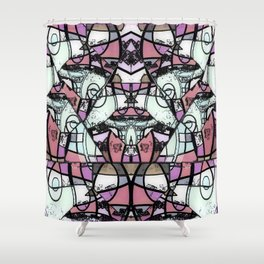 Mirror mirror abstract Shower Curtain