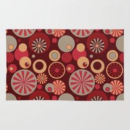 Circle Frenzy - Red Rug