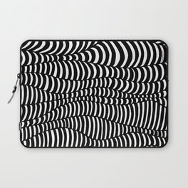 Black and White surreal lines. Inspired by art of Escher Laptop Sleeve