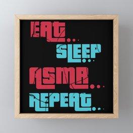 ASMR Eat Sleep Repeat Framed Mini Art Print