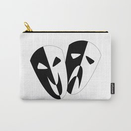 Black and White Stage Masks Carry-All Pouch