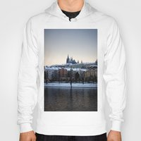 prague Hoodies featuring Prague Castle by Erik Witsoe Photography