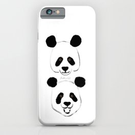Happy Hand-painted Pandas Artwork and Pattern iPhone Case