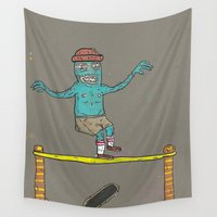 hippy Wall Tapestries featuring Hippy Jump by BummerHighs