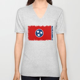 State flag of Tennessee - Authentic version Unisex V-Neck
