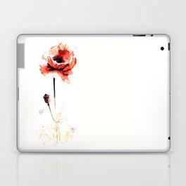 watercolor poppy Laptop & iPad Skin