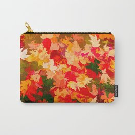 Autumn Leaves (orange, yellow, red, green) Carry-All Pouch