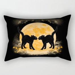 Black Cats Paradise Rectangular Pillow