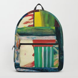 Multicolor Abstract Collage Backpack