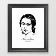 Clara Schumann Framed Art Print