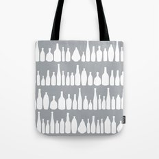 Bottles Grey Tote Bag