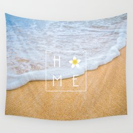 Home (Flower) Wall Tapestry