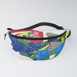 Distressed Pitcairn Map Fanny Pack