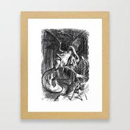 Jabberwocky Illustration from Alice in Wonderland Framed Art Print