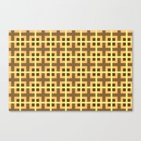 yellow pattern Canvas Prints featuring Pattern Yellow by BobbyK