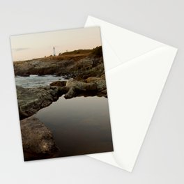 distant lighthouse Stationery Cards