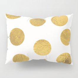 Gold Foil Polka Dots Pillow Sham