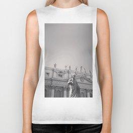 St. Peter's Basilica, Vatican City, Rome, architecture photography, black & white, Baroque Biker Tank