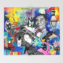 The Sound of New Orleans Throw Blanket