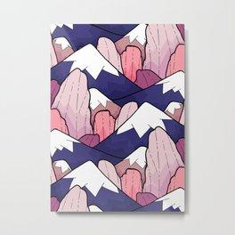 The deep coloured peaks Metal Print
