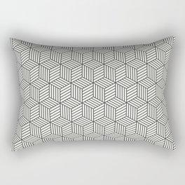 Wood Cubes Rectangular Pillow