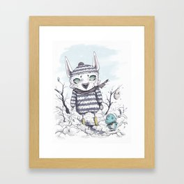 Exploring The Thaw Framed Art Print