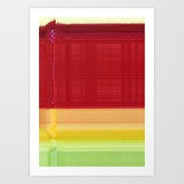 Fruit Glitch Art Print