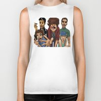 1d Biker Tanks featuring Gorillaz 1D by cargdoodles