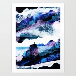 Neptune Hike Art Print
