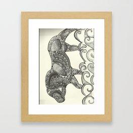 lion number 2 Framed Art Print