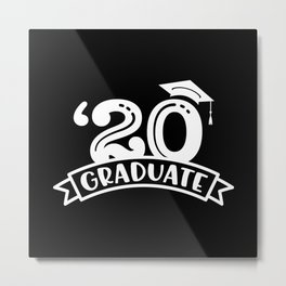 Class of 2020 Graduation Cap with tassel Metal Print