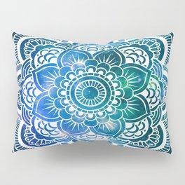 Mandala : Blue Green Galaxy Pillow Sham