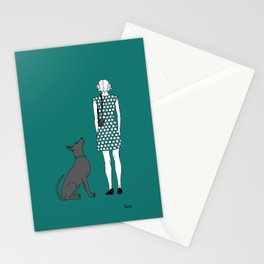 Photographer girl and dog Stationery Cards