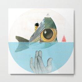 Fish & sChips Metal Print