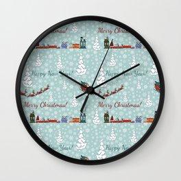santa reindeer team SB12 Wall Clock
