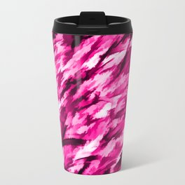 Hot Pink on Pink Designer Camouflage pattern Travel Mug