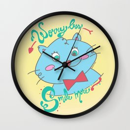 Worry Less, Smile more Wall Clock