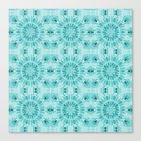 teal Canvas Prints featuring Teal by lillianhibiscus