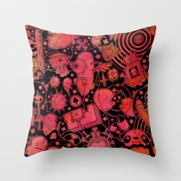 Son of Dooome (red) Throw Pillow