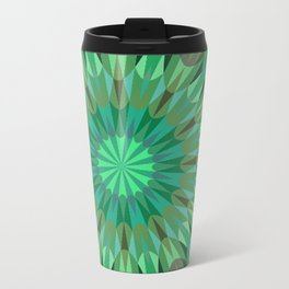 Green Retro Geometry #2 Travel Mug