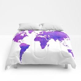 Purple Map Comforters