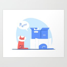 Purr: love to boxe never ends Art Print